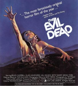 Picture of the movie poster of The Evil Dead, 1981